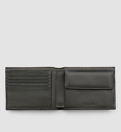 CALVINKLEIN Leather Logo Wallet - BLACK - CALVIN KLEIN WALLETS - detail image 1