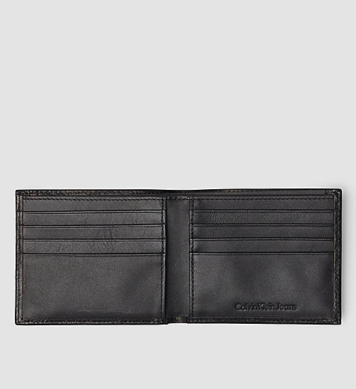 CALVINKLEIN Leather Logo Slimfold Wallet - BLACK - CALVIN KLEIN WALLETS - detail image 1