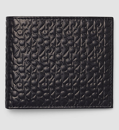 Leather Logo Slimfold Wallet - BLACK - CALVIN KLEIN  - main image