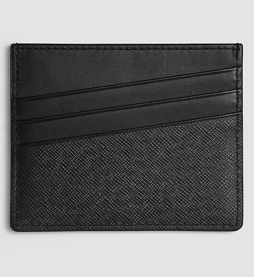 CALVINKLEIN Leather Cardholder - BLACK - CALVIN KLEIN SHOES & ACCESSORIES - detail image 1