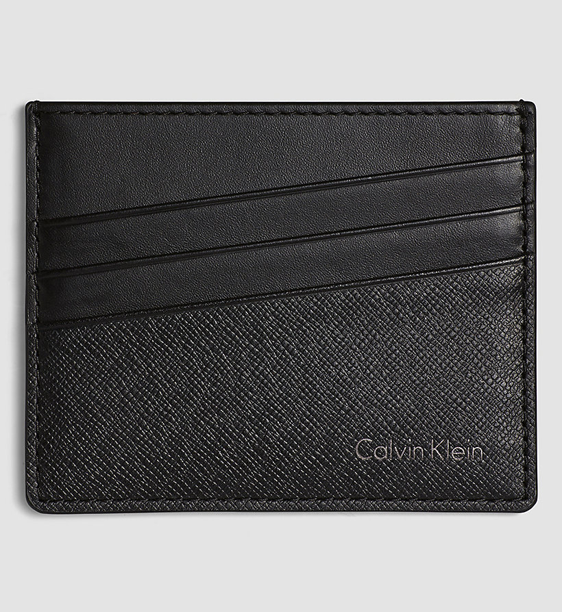 CALVINKLEIN Leather Cardholder - BLACK - CALVIN KLEIN SHOES & ACCESSORIES - main image