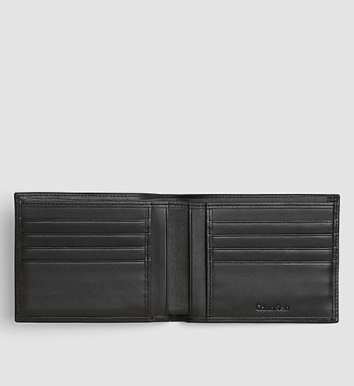 CALVINKLEIN Leather Billfold Wallet - BLACK - CALVIN KLEIN WALLETS - detail image 1
