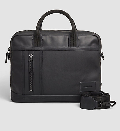 CALVIN KLEIN Coated Canvas Laptop Bag - Ethan K50K501996001