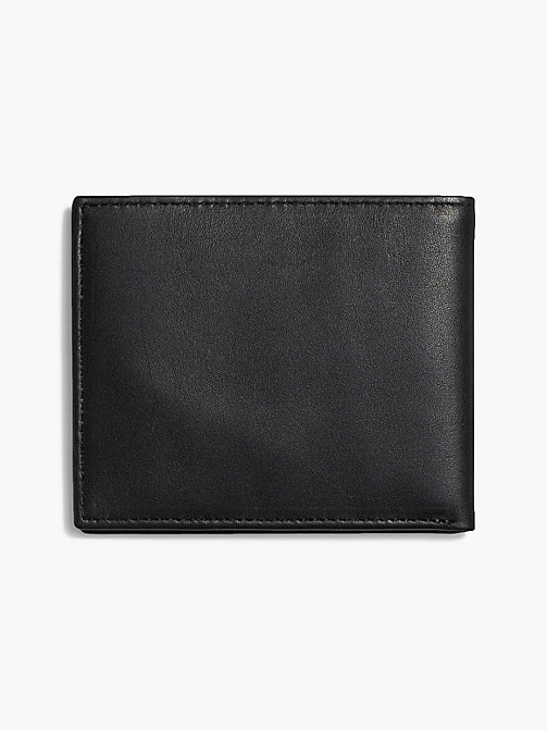 CALVINKLEIN Leather Slimfold Wallet - BLACK - CALVIN KLEIN SMALL ACCESSORIES - detail image 1