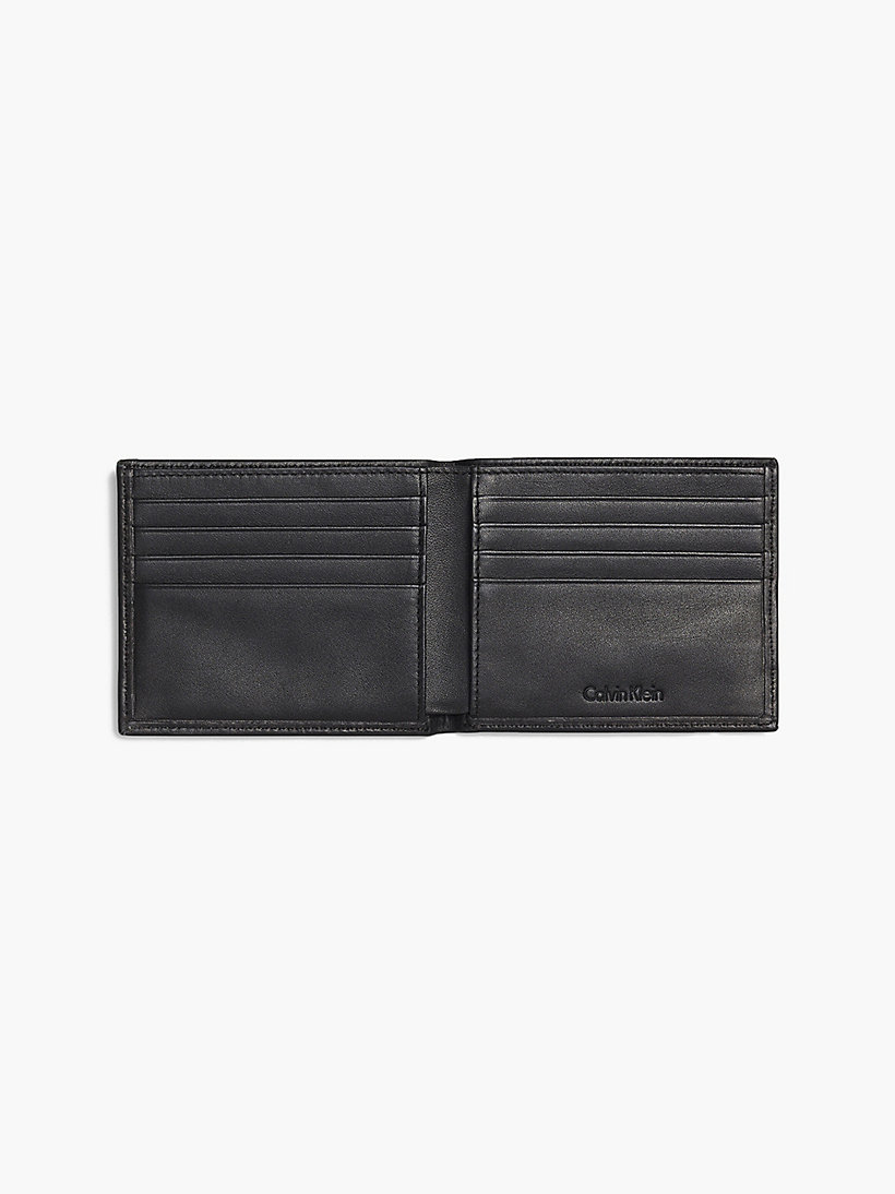 CALVINKLEIN Leather Slimfold Wallet - BLACK - CALVIN KLEIN SHOES & ACCESSORIES - detail image 2