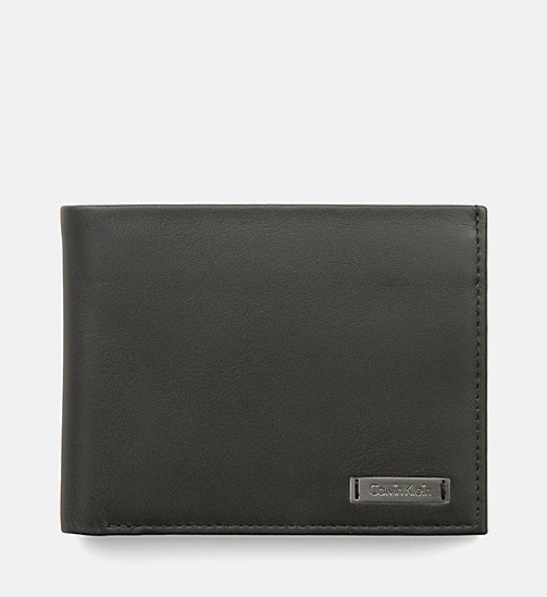 CALVINKLEIN Leather Wallet - BLACK - CALVIN KLEIN VIP SALE Men DE - main image