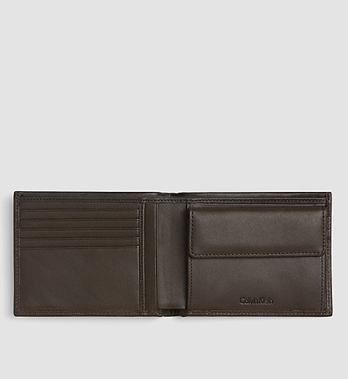 CALVINKLEIN Leather Wallet - TURKISH COFFEE - CALVIN KLEIN VIP SALE Men DE - detail image 1