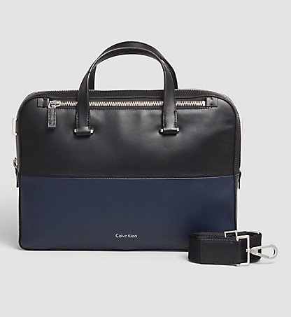 CALVIN KLEIN Leather Laptop Bag - Icon K50K502009910