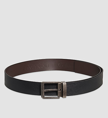 CALVIN KLEIN Leather Reversible Belt - Egde K50K502013001