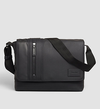 CALVIN KLEIN Coated Canvas Messenger Bag - Ethan K50K502014001