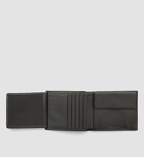 Leather Trifold Wallet - BLACK - CALVIN KLEIN SHOES & ACCESSORIES - detail image 1