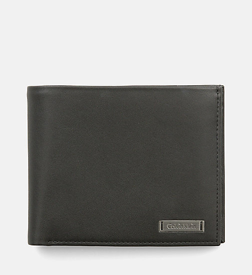 Leather Trifold Wallet - BLACK - CALVIN KLEIN SHOES & ACCESSORIES - main image