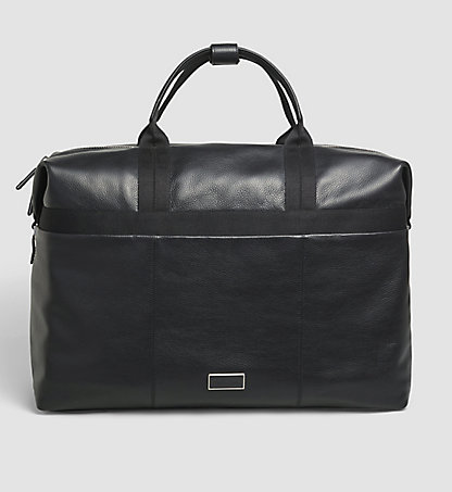 CALVIN KLEIN Leather Weekender Bag - Chase K50K502026001