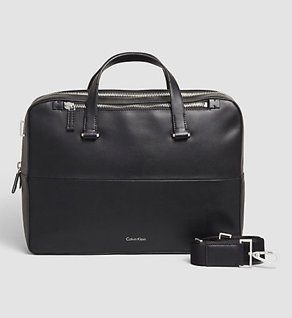CALVIN KLEIN Leather Laptop Bag - Icon K50K502032001
