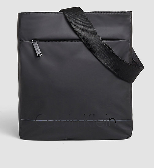 CALVINKLEIN Flat Crossover - BLACK - CALVIN KLEIN CROSSOVER BAGS - main image