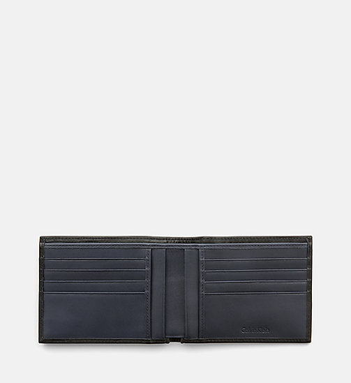 CALVINKLEIN Leather Wallet - BLACK - CALVIN KLEIN SHOES & ACCESSORIES - detail image 1
