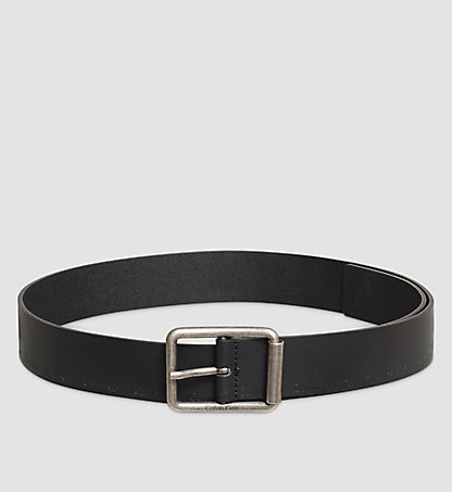 CALVIN KLEIN Leather Logo Belt - Roller K50K502100001