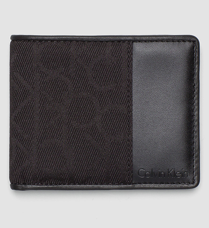 CALVINKLEIN Logo Jacquard Slimfold Wallet - BLACK - CALVIN KLEIN SHOES & ACCESSORIES - main image