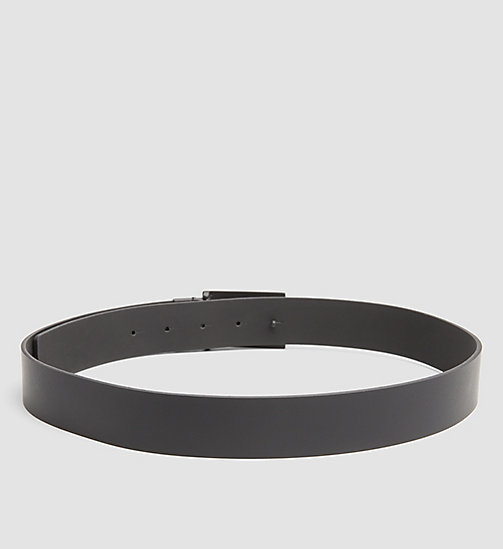 CALVINKLEIN Leather Plaque Reversible Belt - BLACK - CALVIN KLEIN BELTS - detail image 1