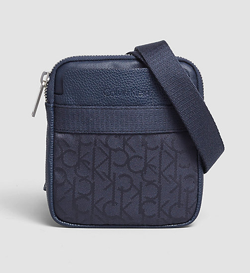CALVINKLEIN Mini Flat Crossover - NAVY - CALVIN KLEIN CROSSOVER BAGS - main image