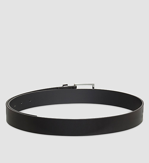 CALVINKLEIN Leather Belt - BLACK - CALVIN KLEIN BELTS - detail image 1