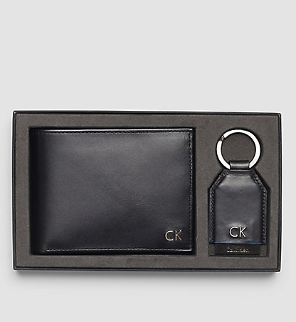 CALVIN KLEIN Leather Wallet/Keyring Gift Box - Elias K50K502268001