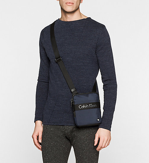 CALVINKLEIN Mini Flat Crossover - NAVY - CALVIN KLEIN CROSSOVER BAGS - detail image 1