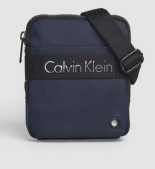 CALVINKLEIN Mini Flat Crossover - NAVY - CALVIN KLEIN BAGS - main image