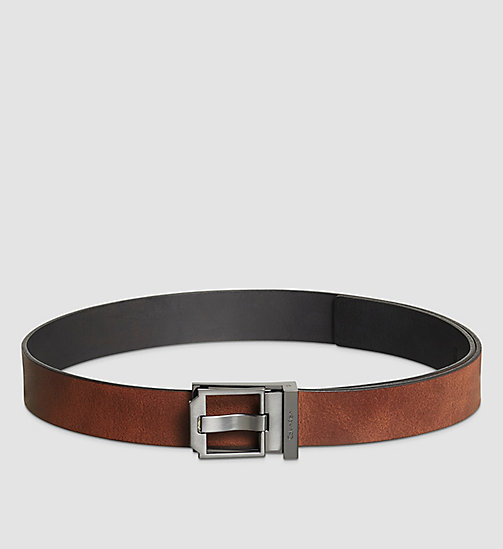 Reversible Leather Belt - BLACK/BROWN - CALVIN KLEIN SHOES & ACCESSORIES - detail image 1