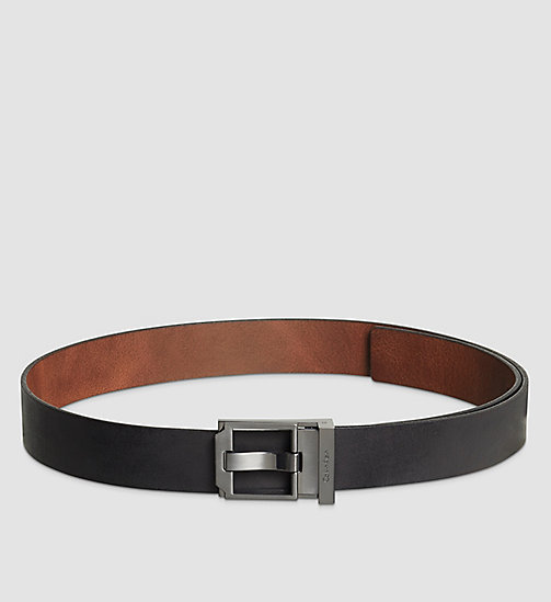 Reversible Leather Belt - BLACK/BROWN - CALVIN KLEIN SHOES & ACCESSORIES - main image