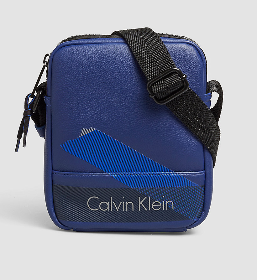 CALVINKLEIN Mini Reporter Bag - BLUE DEPTHS - CALVIN KLEIN SHOES & ACCESSORIES - main image