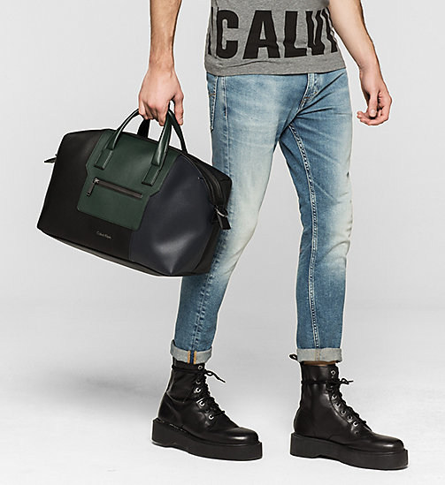 Medium Duffle Bag - BLACK/NAVY/SYCAMORE - CALVIN KLEIN SHOES & ACCESSORIES - detail image 1