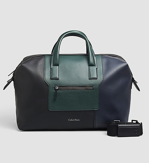 CALVINKLEIN Medium Duffle Bag - BLACK/NAVY/SYCAMORE - CALVIN KLEIN VIP SALE MEN - main image