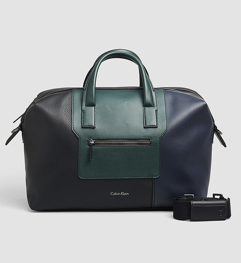 CALVINKLEIN Medium Duffle Bag - BLACK/NAVY/SYCAMORE - CALVIN KLEIN SHOES & ACCESSORIES - main image