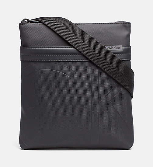CALVINKLEIN Gecoate canvas platte crossover - BLACK - CALVIN KLEIN CARRIED AWAY - main image