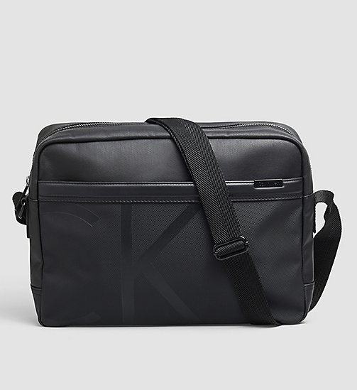 Coated Canvas Messenger Bag - BLACK - CALVIN KLEIN  - main image