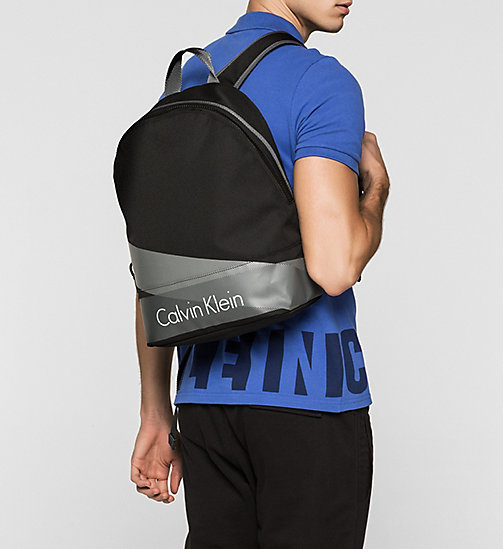 Printed Nylon Backpack - BLACK - CALVIN KLEIN  - detail image 1