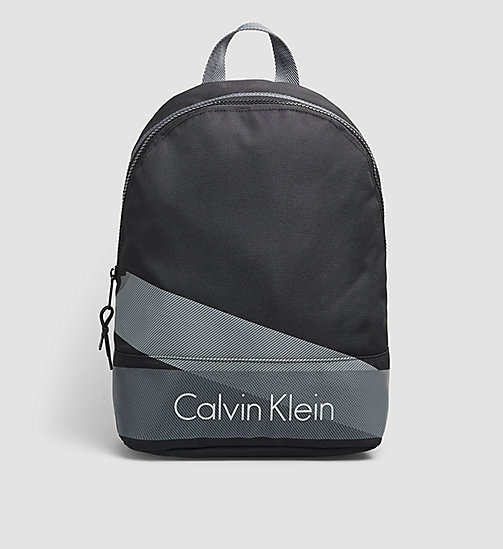 Printed Nylon Backpack - BLACK - CALVIN KLEIN  - main image