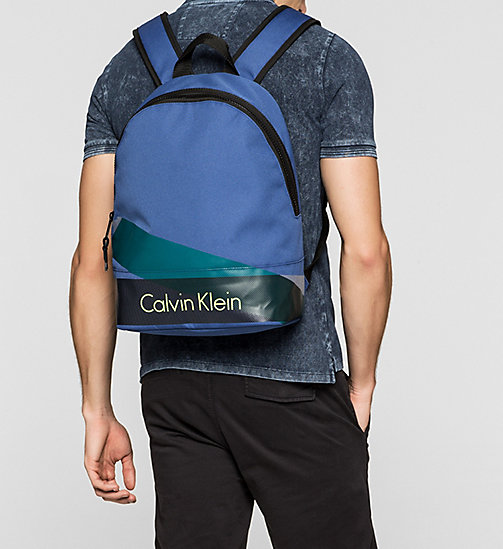 Printed Nylon Backpack - MONACO BLUE - CALVIN KLEIN SHOES & ACCESSORIES - detail image 1