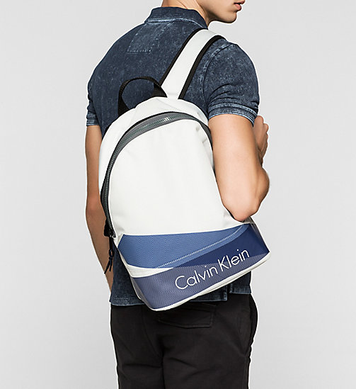 Printed Nylon Backpack - STONE - CALVIN KLEIN  - detail image 1