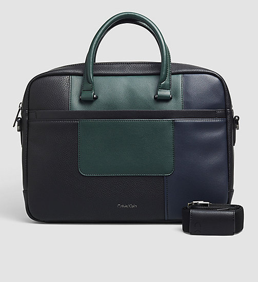 CALVINKLEIN Laptop Bag - BLACK/NAVY/SYCAMORE - CALVIN KLEIN LAPTOP BAGS - main image