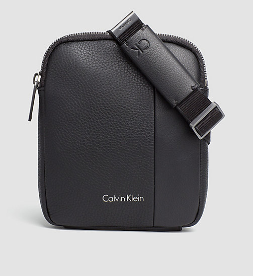 CALVINKLEIN Mini Flat Crossover - BLACK - CALVIN KLEIN CROSSOVER BAGS - main image