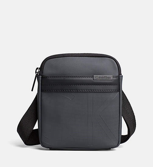 CALVINKLEIN Coated Canvas Mini Flat Crossover - DARK SHADOW - CALVIN KLEIN CROSSOVER BAGS - main image