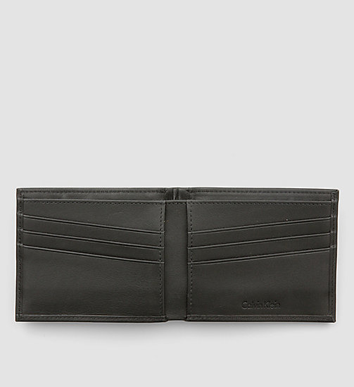 CALVINKLEIN Leather Slimfold Wallet - BLACK - CALVIN KLEIN CARRIED AWAY - detail image 1