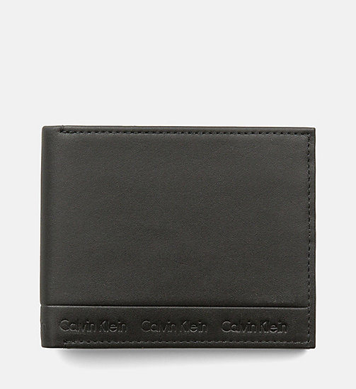 CALVINKLEIN Leather Slimfold Wallet - BLACK - CALVIN KLEIN  - main image