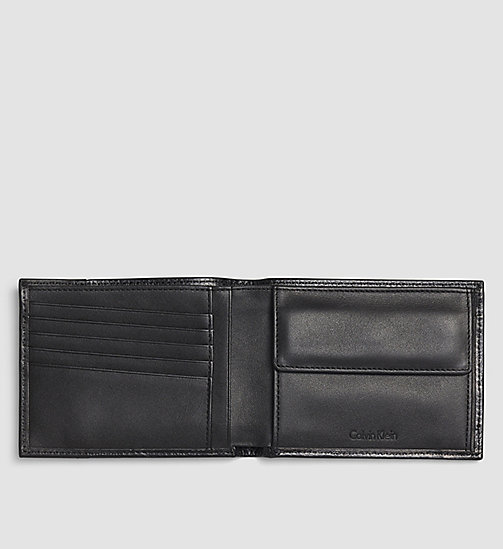 CALVINKLEIN Leather Wallet - BLACK - CALVIN KLEIN SMALL ACCESSORIES - detail image 1