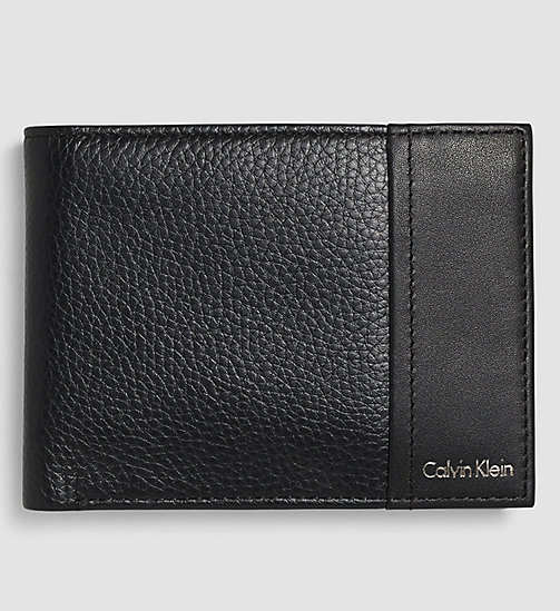 CALVINKLEIN Leather Wallet - BLACK - CALVIN KLEIN GIFTS FOR HIM - main image