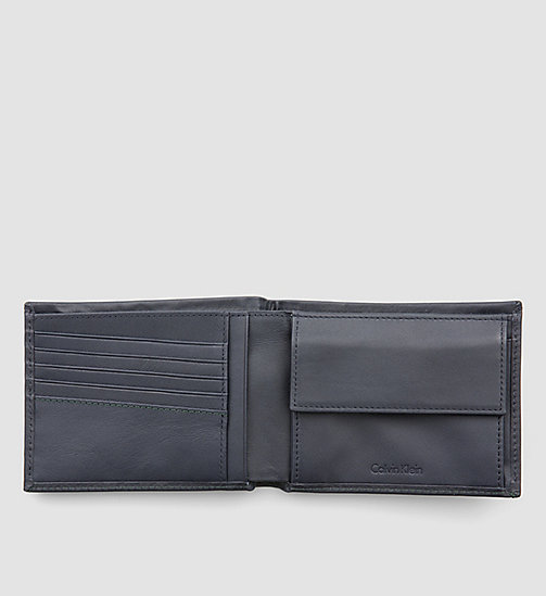 CALVINKLEIN Leather Wallet - NAVY - CALVIN KLEIN WALLETS - detail image 1