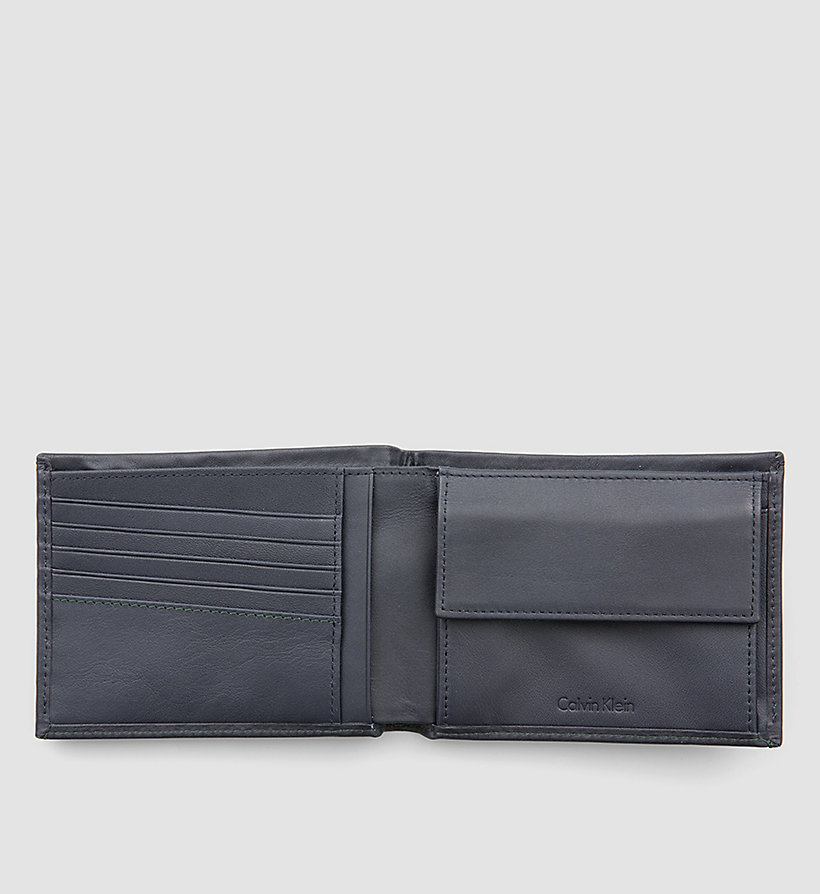 CALVINKLEIN Leather Wallet - NAVY - CALVIN KLEIN SHOES & ACCESSORIES - detail image 1