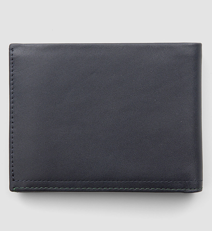 CALVINKLEIN Leather Wallet - NAVY - CALVIN KLEIN SHOES & ACCESSORIES - detail image 2